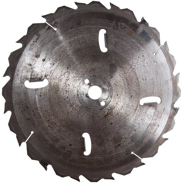 Circular Saw Poster featuring the photograph Circular Saw Blade Isolated On White by Handmade Pictures