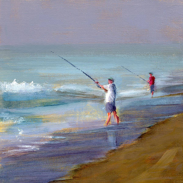 Beach Poster featuring the painting Untitled 1 by Chris N Rohrbach
