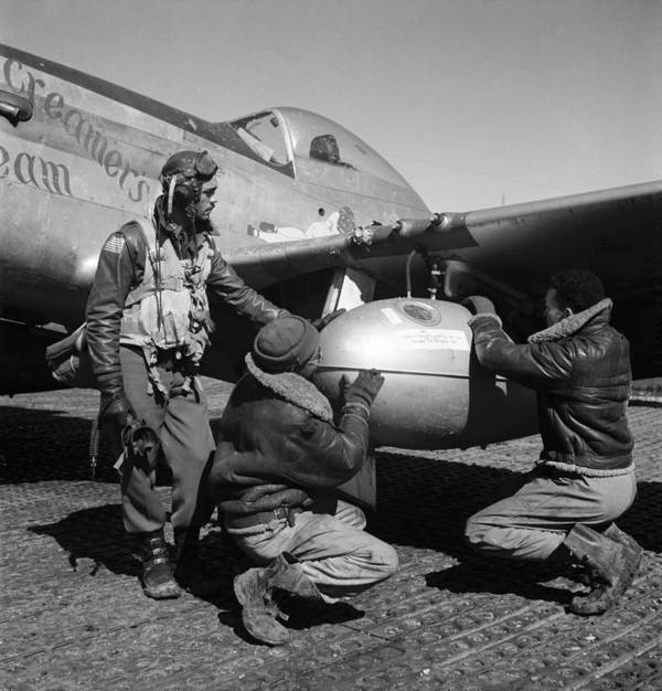 1945 Poster featuring the photograph Wwii: Tuskegee Airmen, 1945 by Granger