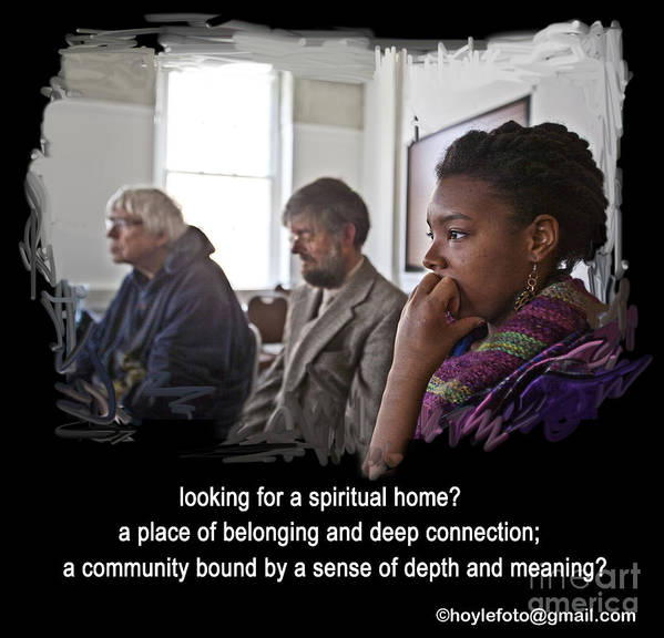 Seeking Poster featuring the painting A Spiritual Home by Mike Hoyle
