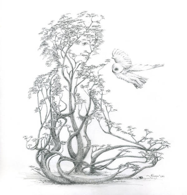 Tree Dancer Poster featuring the drawing A Word To The Wise by Mark Johnson