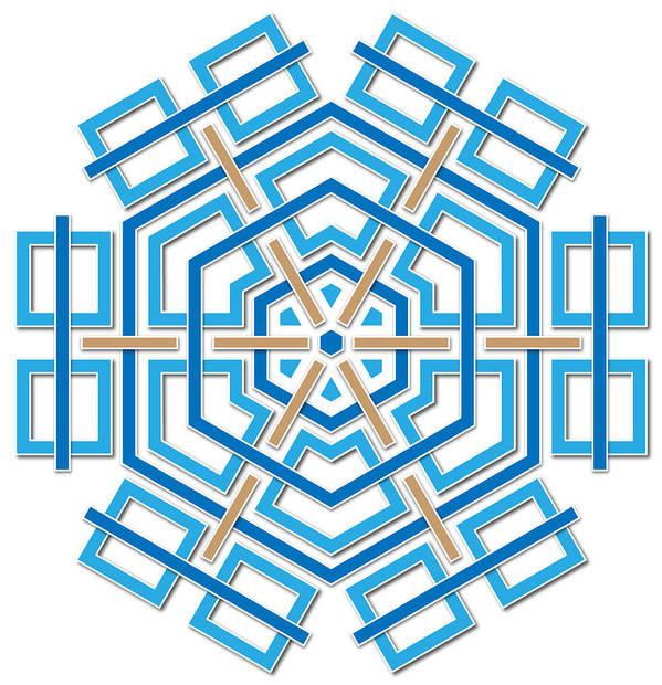 Hexagon Poster featuring the digital art Abstract Hexagonal Shape by Jozef Jankola