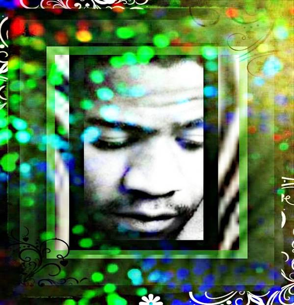 Poster featuring the mixed media Al Green by Tracie Howard