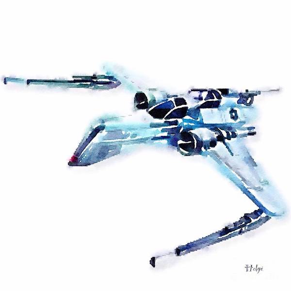 Arc-170 Poster featuring the painting ARC-170 starfighter by HELGE Art Gallery
