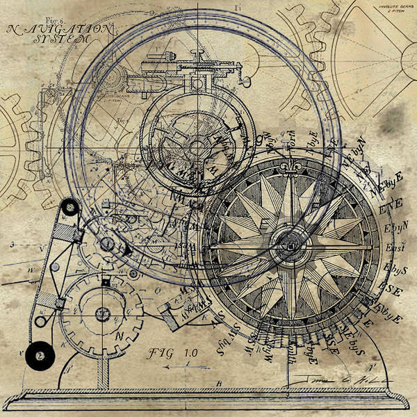 Steampunk Poster featuring the painting AutoWheel II by James Christopher Hill