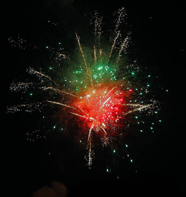 Fire Works Poster featuring the photograph Bang by Elias D Bennett