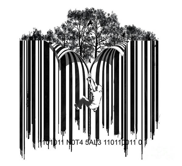 Barcode Graffiti Poster Print Unzip The Code Poster