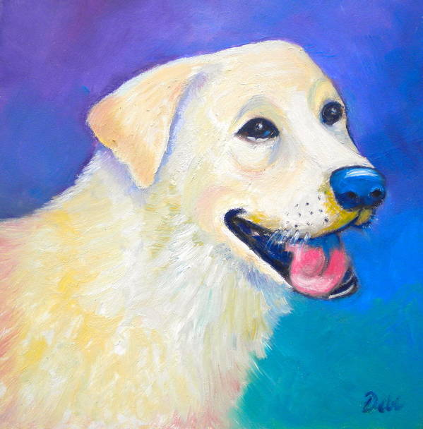 Barkley Poster featuring the painting Barkley by Debi Starr