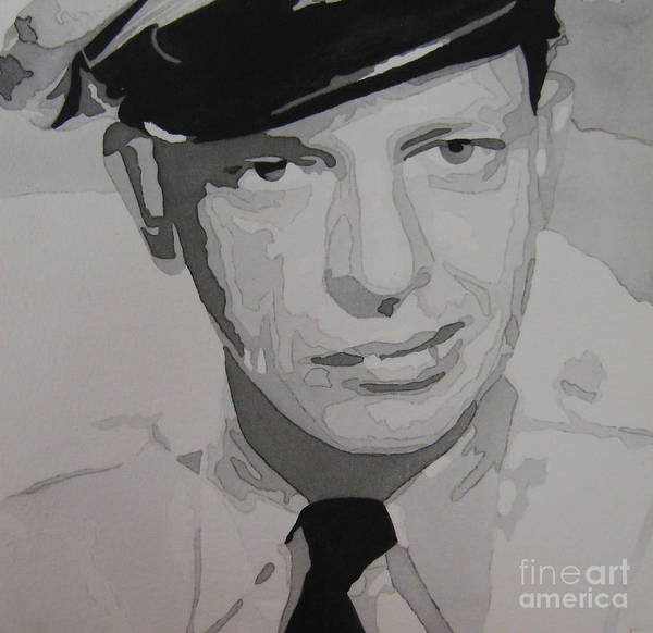 Andy Griffith Show Poster featuring the painting Barney Fife Contrast by Jules Wagner