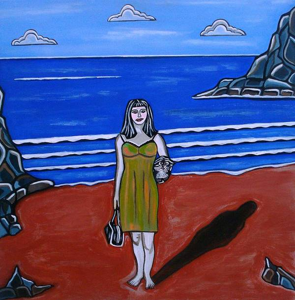 Beach Paintings Poster featuring the painting Beach Chic by Sandra Marie Adams