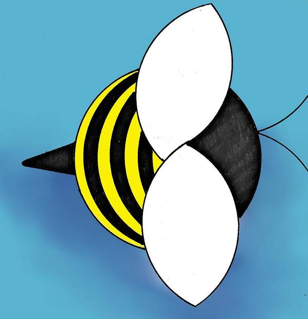 Bee Poster featuring the digital art Bee2011 by Loretta Nash