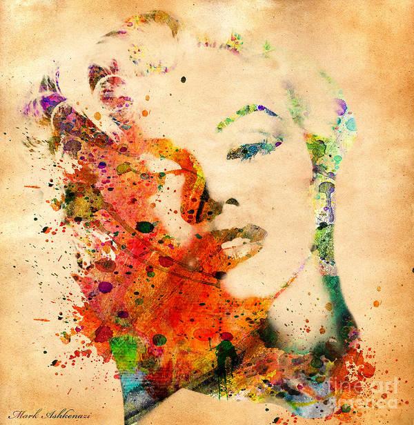Marilyn Monroe Poster featuring the digital art Beloved by Mark Ashkenazi