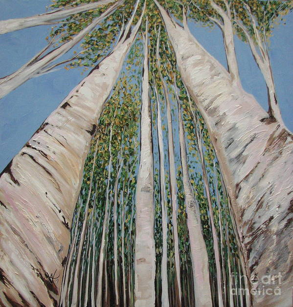 Landscape Poster featuring the painting Birch Tree 2 by Aimee Vance
