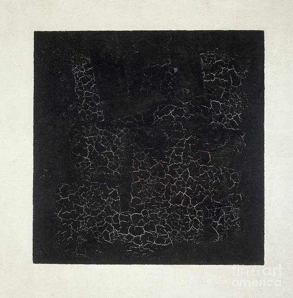 Suprematist; Shape; Abstract; Geometric; Minimalist; Suprematism; Minimalism; Abstract Poster featuring the painting Black Square by Kazimir Malevich