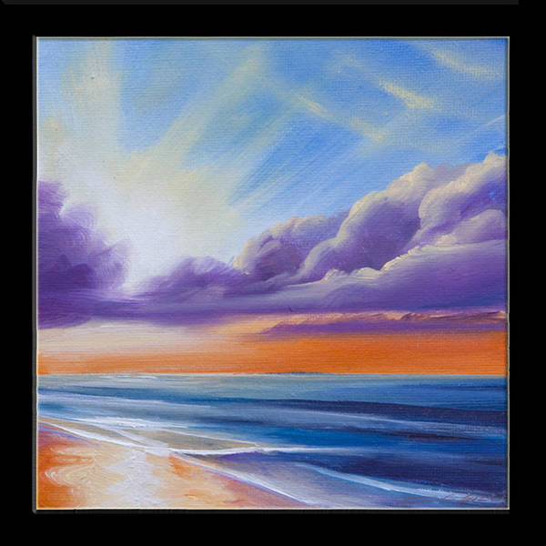 Sunrise Poster featuring the painting Botany Bay Shoreline by James Christopher Hill