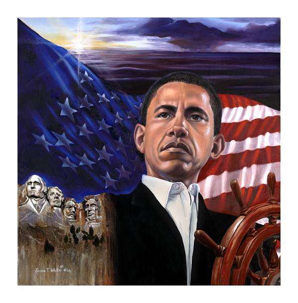 President Poster featuring the painting Break Of A New Horizon by Jerome White