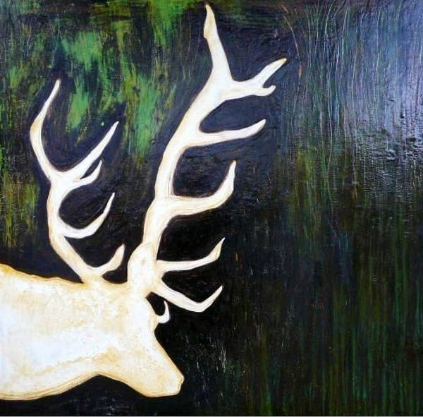 Deer Poster featuring the painting Buck by Jackie Cort