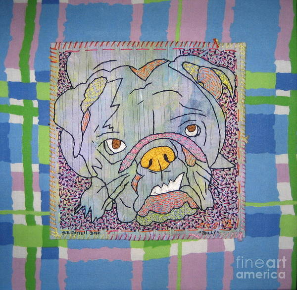 Textile Poster featuring the tapestry - textile Bully by Susan Sorrell