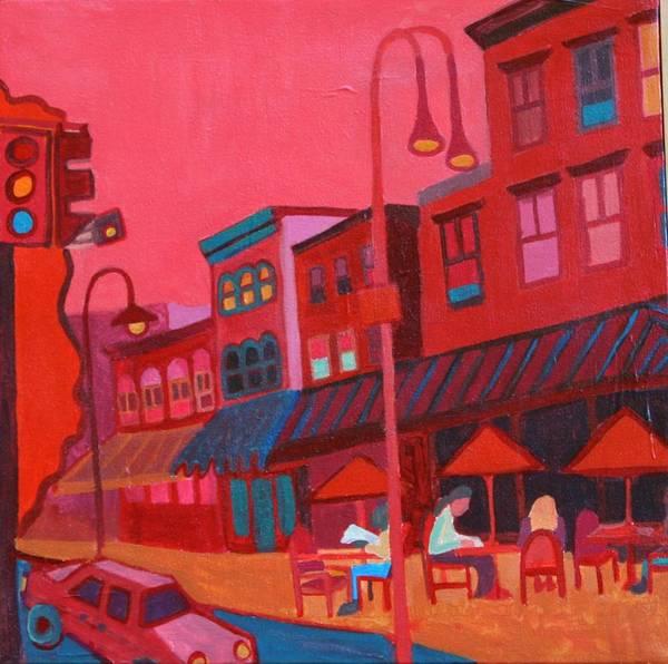 Vermont Poster featuring the painting Burlington VT cafe by Debra Bretton Robinson