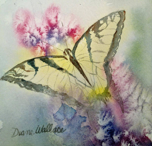 Butterfly Poster featuring the painting Butterfly Kisses by Diane Wallace