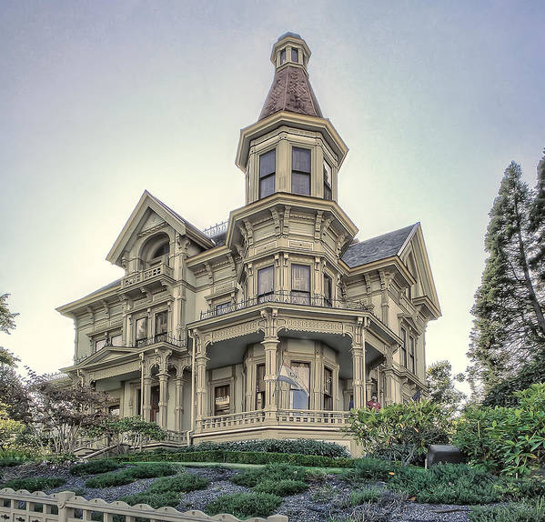 flavel House Poster featuring the photograph Captain George Flavel Victorian House - Astoria Oregon by Daniel Hagerman