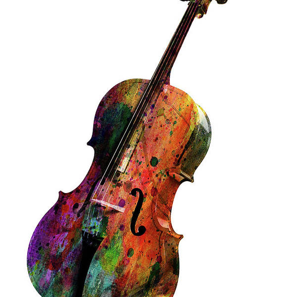 Cello Poster featuring the painting Violin by Mark Ashkenazi