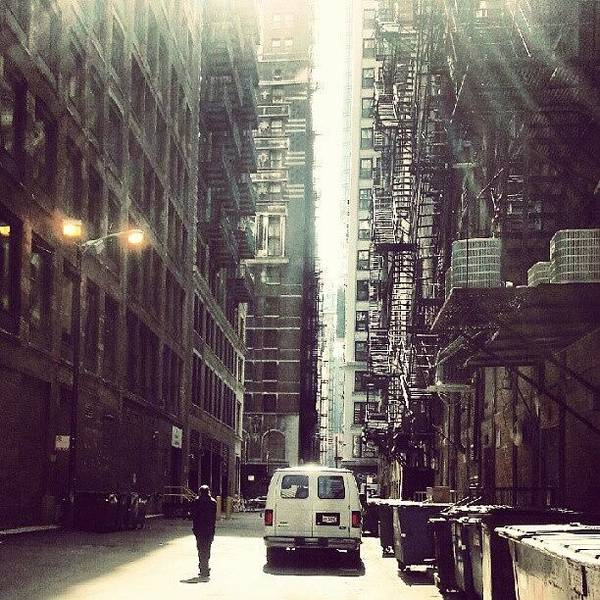 Chicago Poster featuring the photograph Chicago Alleyway by Jill Tuinier
