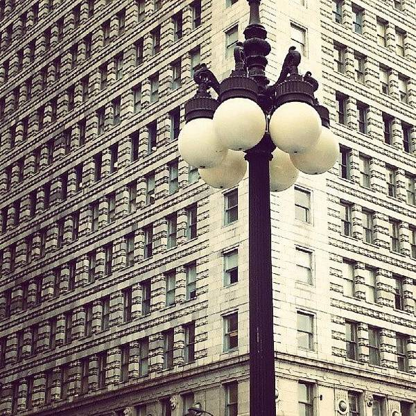 Chicago Poster featuring the photograph Chicago Lamp Post by Jill Tuinier