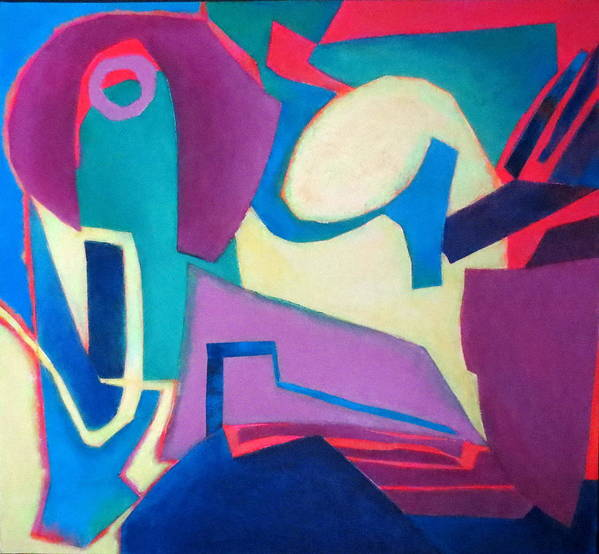 Abstract Expressionism Poster featuring the mixed media Compostion In See by Diane Fine