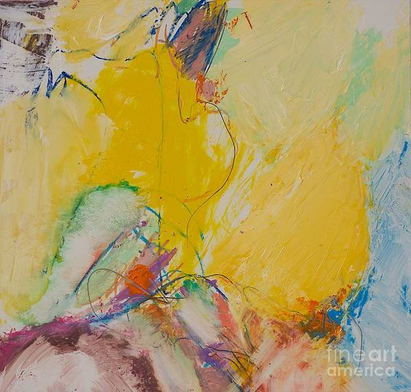 Abstract Poster featuring the painting Crystal by Allan P Friedlander