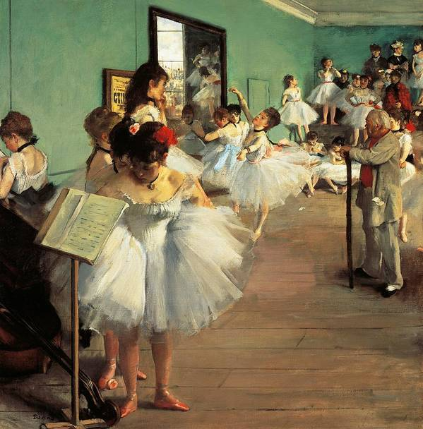 Painting Poster featuring the painting Dance Examination by Edgar Degas