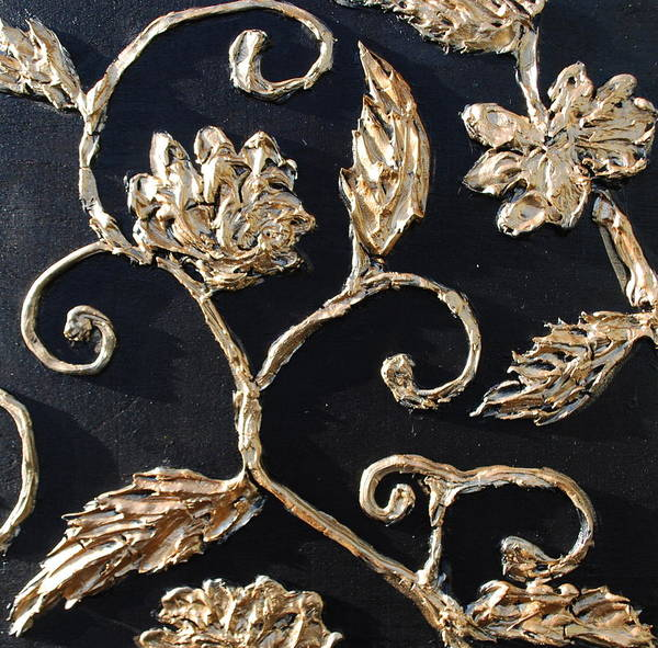 Decorative Poster featuring the painting Decor Black And Gold by Lori McPhee