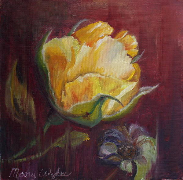 Rose Poster featuring the painting Destiny by Mary Beglau Wykes