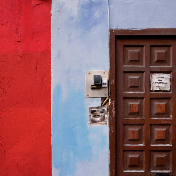 Outdoors Poster featuring the photograph Door Bells And Front Door Of Old House by Marco Poggioli / Eyeem