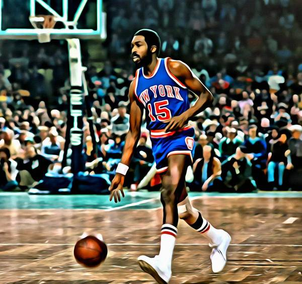 Earl Monroe Poster featuring the painting Earl Monroe by Florian Rodarte