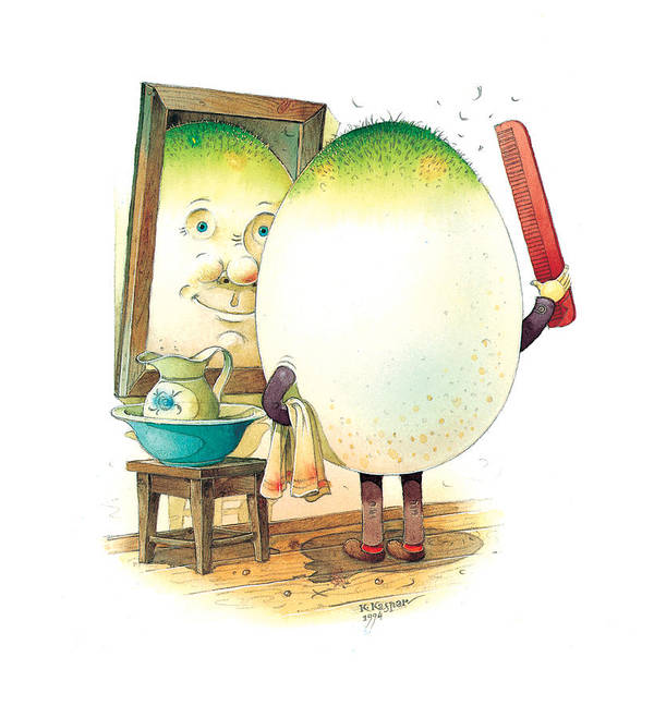 Easter Morning Eggs Spring Green Bathroom Poster featuring the painting Eastereggs 06 by Kestutis Kasparavicius