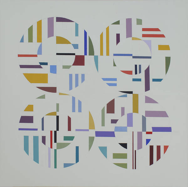 Abstract Geometric Optic Painting Poster featuring the painting Ecliptic #1 by Marston A Jaquis
