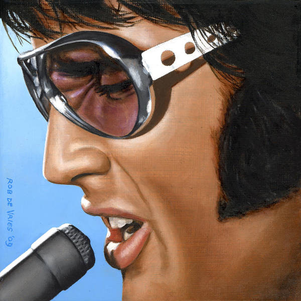 Elvis Poster featuring the painting Elvis 24 1970 by Rob De Vries