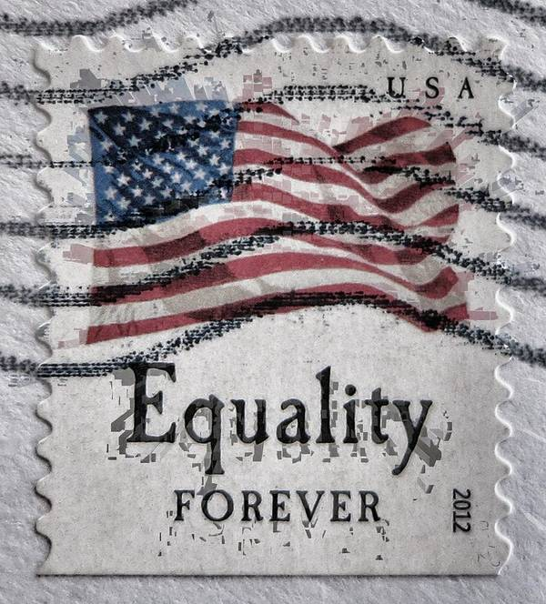 Stamp Poster featuring the photograph Equality Forever by Patricia Januszkiewicz
