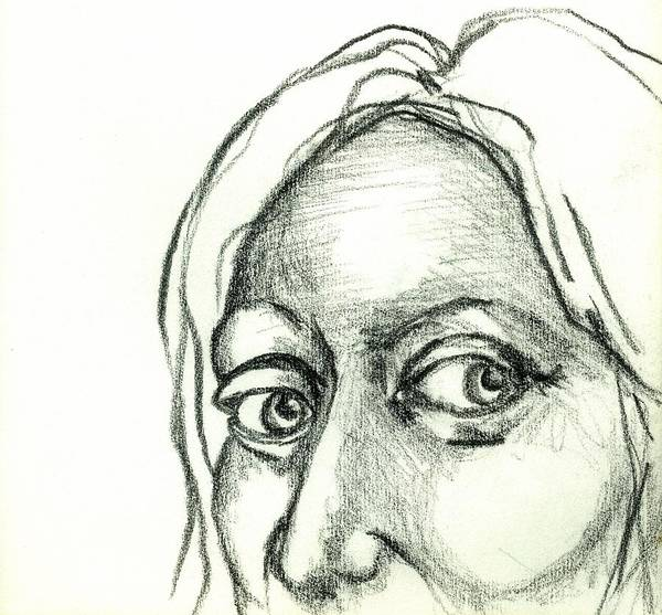 Drawing Poster featuring the drawing Eyes - The Sketchbook Series by Michelle Calkins