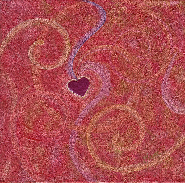Heart Poster featuring the painting Falling Into Love by Elaine Allen