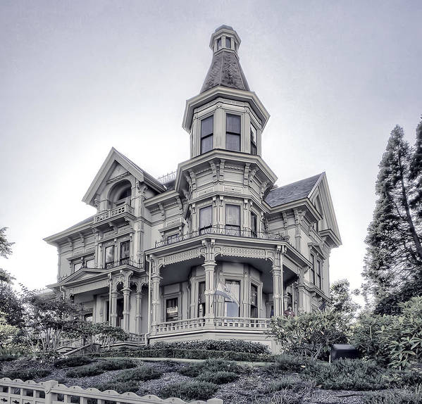 flavel House Poster featuring the photograph Flavel Victorian Home by Daniel Hagerman