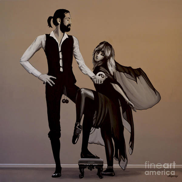 Fleetwood Mac Poster featuring the painting Fleetwood Mac Rumours by Paul Meijering