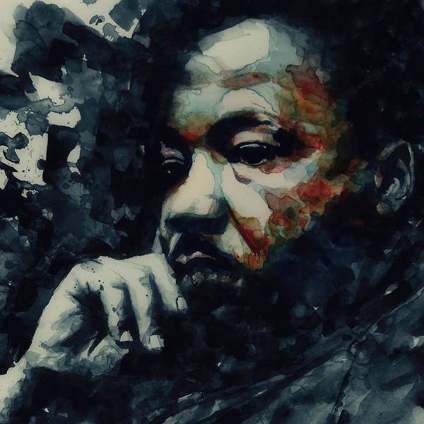 Martin Luther King Jr Poster featuring the painting Martin Luther King -Forgiveness Is Not An Occasional Act It Is A Constant Attitude by Paul Lovering