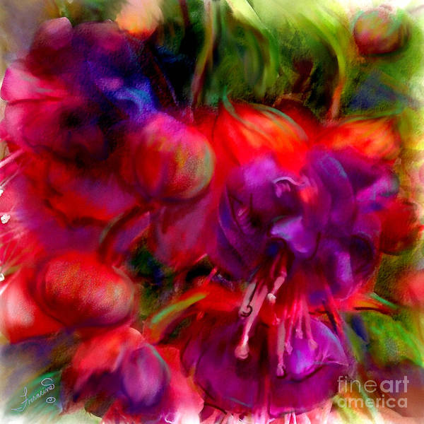 Fuschia Poster featuring the painting Fuschia Excitement by Francine Dufour Jones