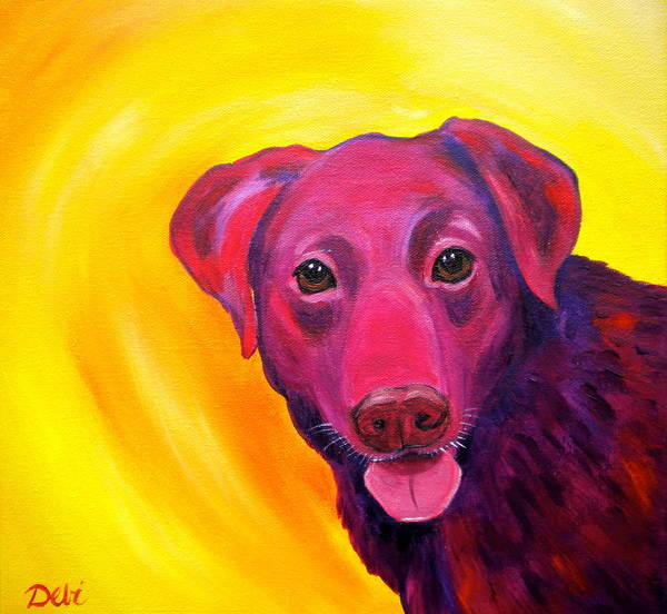 Dog Paintings Poster featuring the painting Gambit by Debi Starr