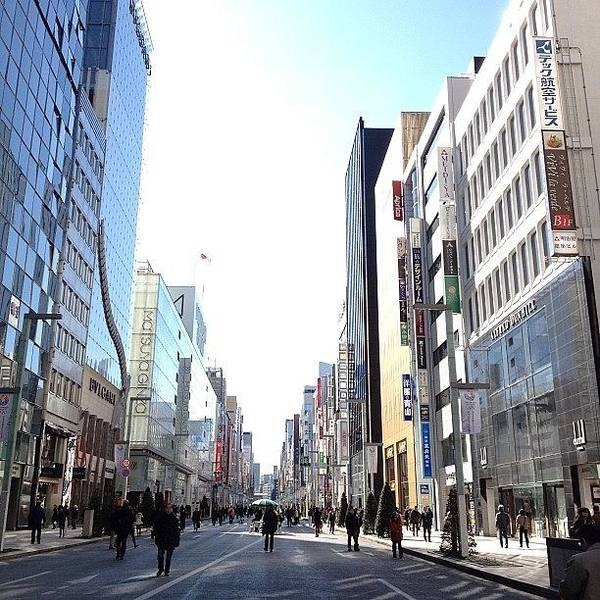 Ginza Poster featuring the photograph #ginza#tokyo by Tokyo Sanpopo