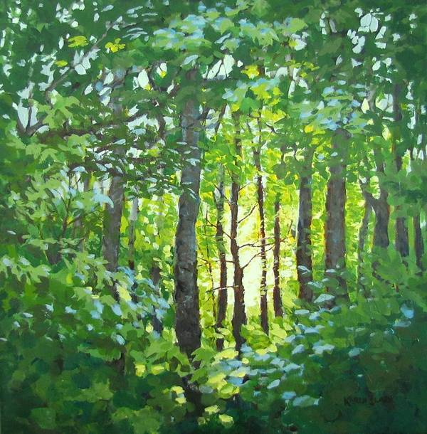 Landscape Poster featuring the painting Glow by Karen Ilari