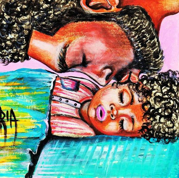 Artbyria Poster featuring the photograph Goodnight Kiss by Artist RiA