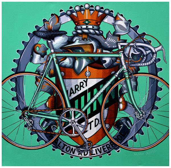 Bicycle Poster featuring the painting Harry Quinn by Mark Jones